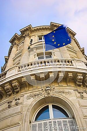 Free EU Flag On Building Royalty Free Stock Image - 17727746