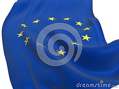 EU flag of united Europe isolated