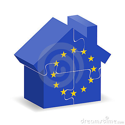 EU flagged house