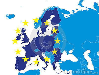 EU members on Europe map