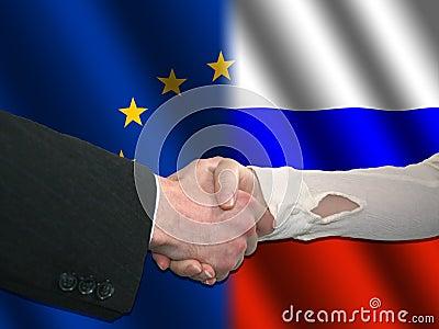 EU Russian handshake