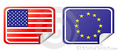 Eu and usa label flag
