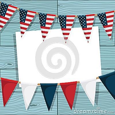 EUA que bunting a decoração