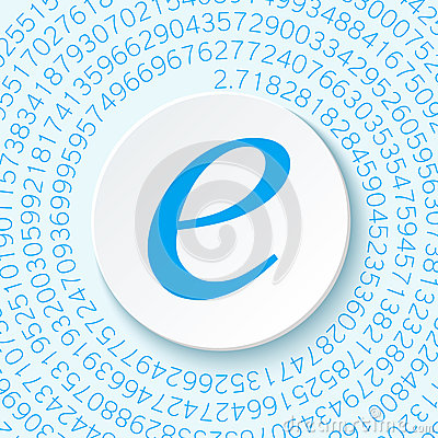 Free Euler`s Number With A Shadow On A Digital Background. Mathematical Constant, Decimal Irrational Number Stock Image - 86657831