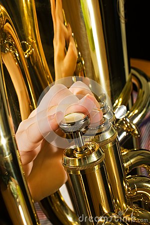Euphonium being played