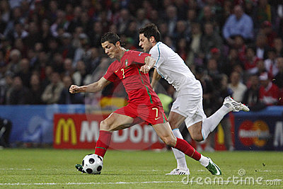Euro 2008 - Portgual v. Turkey 6/7/08 Editorial Stock Photo