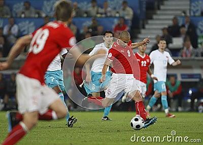 Euro 2008 - Switzerland v. Turkey 6/11/08 Editorial Photo