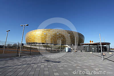 EURO 2012 CHAMPIONSHIP STADIUM IN GDANSK Editorial Photo