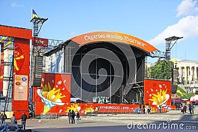 EURO 2012 Fan Zone in Kyiv Editorial Photography