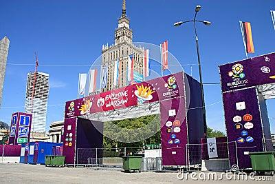 Euro 2012 fanzone Editorial Stock Photo