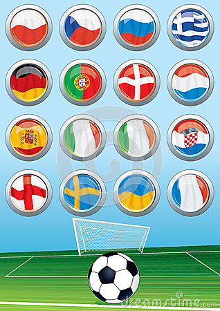 Euro 2012 Group Flags