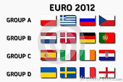 Euro 2012 groups Editorial Image