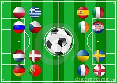 Euro 2012 Groups Editorial Stock Photo