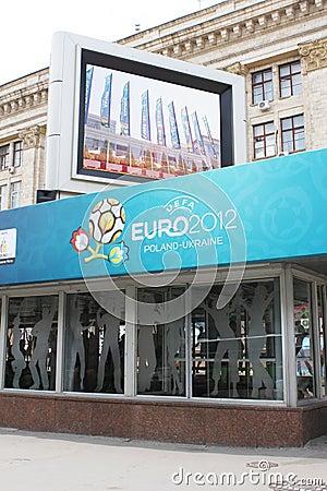Euro 2012 Host City Kharkiv Editorial Stock Image