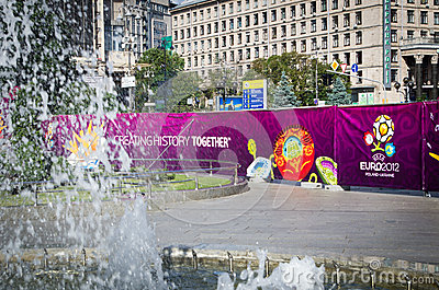 Euro 2012 in Kiev Editorial Stock Image