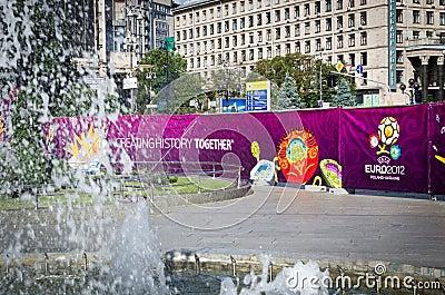 Euro 2012 in Kiev Editorial Stock Image