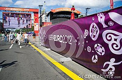 Euro 2012 in Kiev Editorial Photography