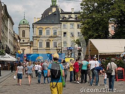Euro 2012 Lviv Editorial Photography