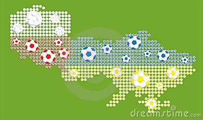 Euro 2012 - map of polish and ukrainian