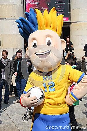 EURO 2012 mascot Editorial Photography