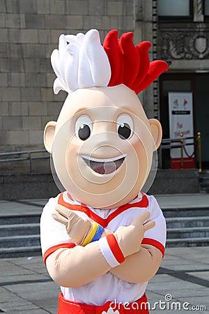 EURO 2012 mascot Editorial Stock Photo