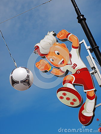 Euro 2012 Mascot Editorial Stock Image