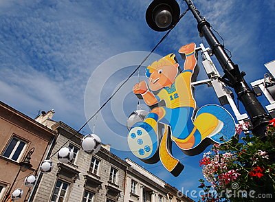 Euro 2012 Mascot Editorial Stock Photo