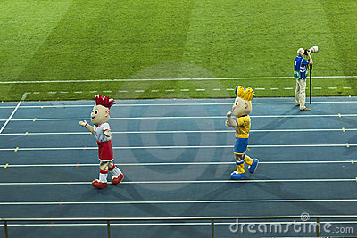 Euro 2012 mascots Editorial Stock Photo