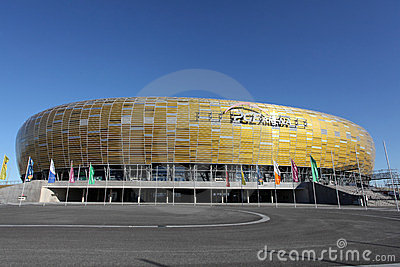 Euro 2012 new stadium in Gdansk, Poland Editorial Stock Image