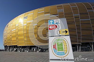 Euro 2012 new stadium in Gdansk, Poland Editorial Image