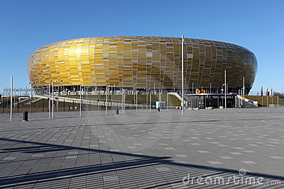 Euro 2012 new stadium in Gdansk, Poland Editorial Image