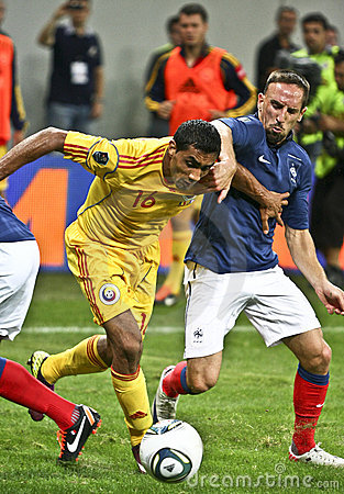 Euro 2012 Qualifying Round (Group D)Romania-France Editorial Stock Photo