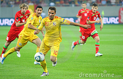 Euro 2012 Qualifying Round Romania-Belarus Editorial Stock Photo
