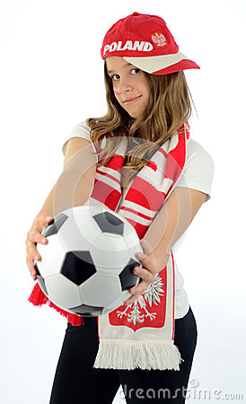 Euro 2012 teen girl fan