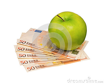 Euro and apple