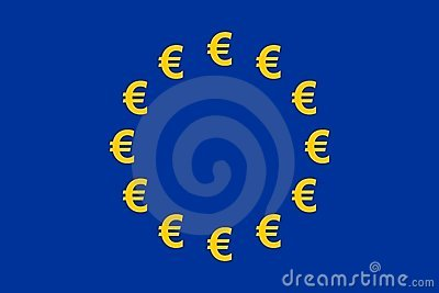 Euro bandierina di valuta