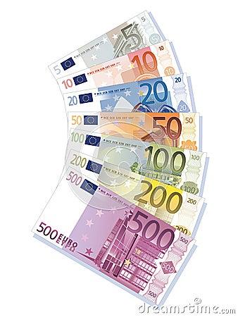 Euro bankbiljetten