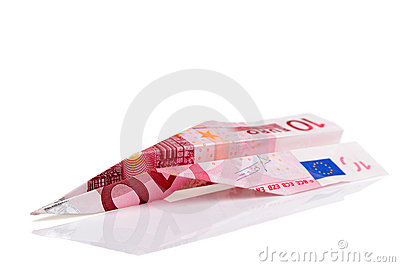 Euro bankbiljetvliegtuig