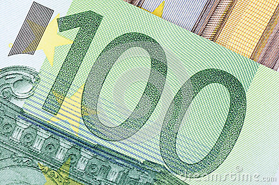 Euro banknotes as a background, close-up