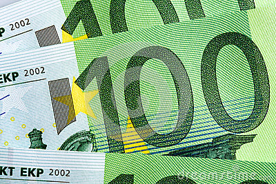 100 Euro Banknotes Background