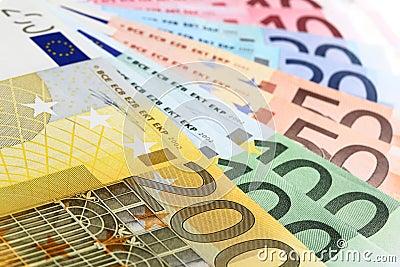 Euro banknotes (fan)