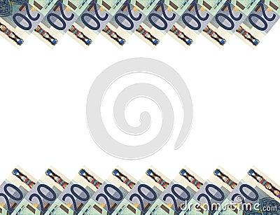Euro banknotes.Horizontal background.20.