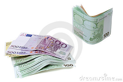 Euro banknotes money