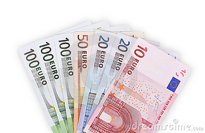 Euro banknotes money background