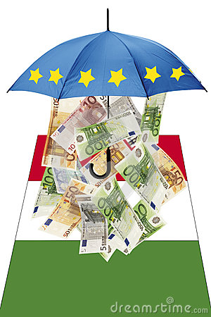 Free Euro Banknotes Under Umbrella With Italian Flag Stock Image - 50479551