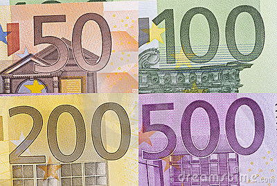 Euro Bill Macro Detail