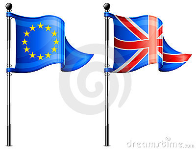 Euro & Britain flags