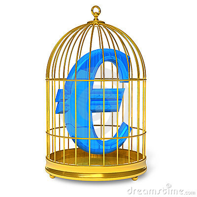 Euro in cage