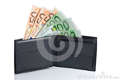 Dinheiro em uma carteira