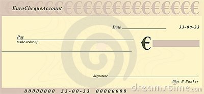 Euro Cheque Royalty Free Stock Images - Image: 4182949